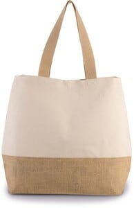 Kimood KI0235 - CANVAS & JUTE HOLD-ALL SHOPPER BAG