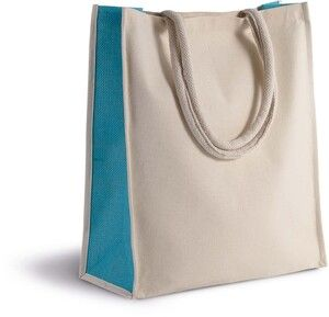 Kimood KI0253 - Cotton/jute tote bag - 23 L
