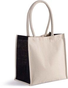 Kimood KI0255 - Cotton/jute tote bag - 17 L