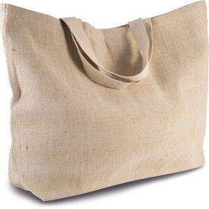 Kimood KI0260 - RUSTIC JUCO LARGE HOLD-ALL SHOPPER BAG