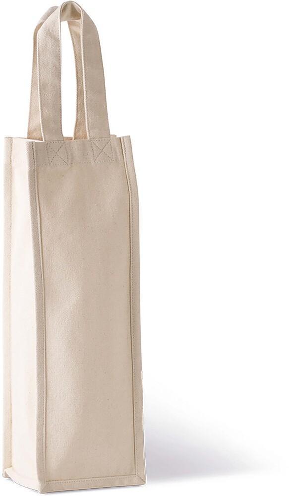 Kimood KI0269 - Cotton canvas bottle bag