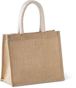 Kimood KI0273 - Jute canvas tote - medium