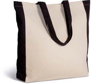 Kimood KI0275 - Zweifarbige Tasche im Cabas-Stil