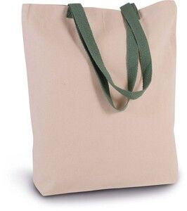 Kimood KI0278 - SHOPPER BAG WITH GUSSET AND CONTRAST COLOUR HANDLE
