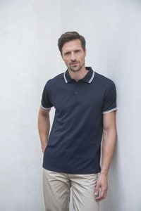 Henbury H482 - Mens Coolplus® Tipped Polo Shirt