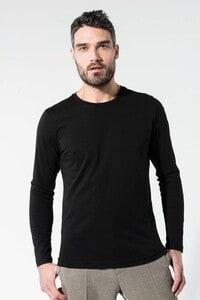 Kariban K372 - T-shirt coton BIO col rond manches longues homme