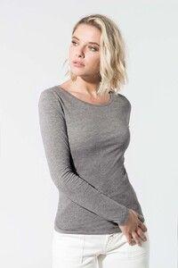 Kariban K392 - Ladies' organic cotton crew neck long-sleeved T-shirt
