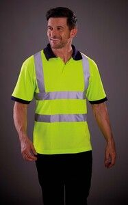 Yoko YHVJ210 - High Visibility Short Sleeve Polo Shirt