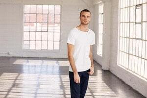 Bella+Canvas BE3014 - T-shirt homme col à bords francs
