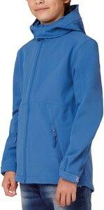 B&C CGJK969 - Kids hooded softshell jacket