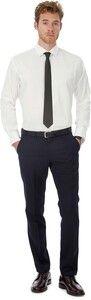 B&C CGSMP21 - Black Tie Mens stretch shirt