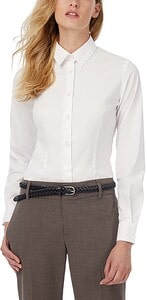 B&C CGSWP23 - Black Tie Ladies stretch shirt