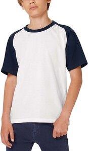 B&C CGTK350 - T-shirt de criança Baseball
