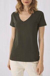 B&C CGTW045 - T-shirt Organic Inspire col V Femme