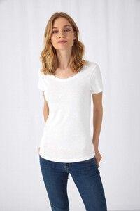 B&C CGTW047 - Ladies SLUB Organic Cotton Inspire T-shirt