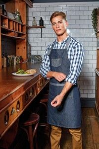 Premier PR127 - Domain Denim bib apron