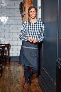 Premier PR128 - Domain - Contrast denim waist apron