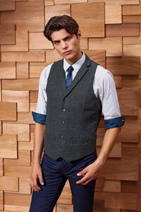 Premier PR625 - Mens herringbone waistcoat