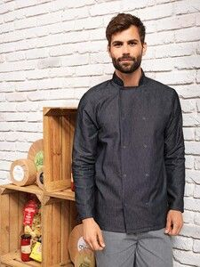 Premier PR660 - Denim Chefs jacket