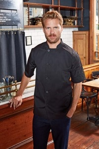 Premier PR900 - 'Essential' short sleeve chef's jacket.
