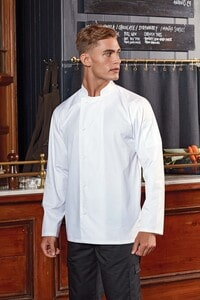 Premier PR901 - 'Essential' long sleeve chef's jacket.