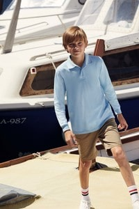 Fruit of the Loom SC63201 - Polo enfant 65/35 manches longues