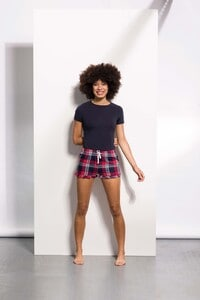 Skinnifit SK082 - Womens Tartan Frill Lounge Shorts