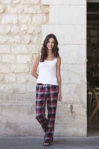 Skinnifit SK083 - Womens tartan lounge trousers