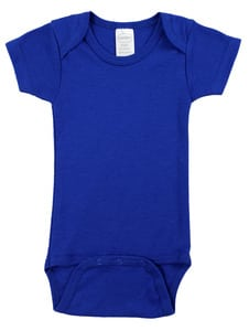 Infant Blanks 0010Blue - Interlock Short Sleeve Bodysuit Onezies