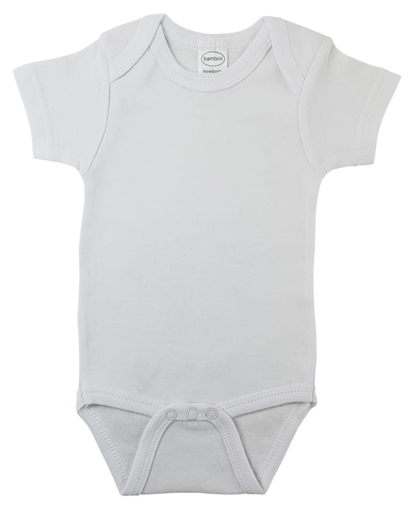Infant Blanks 0010B - Interlock Short Sleeve Onezies
