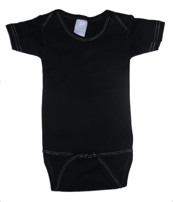 Infant Blanks 0010BLWS - Long Sleeve Lap Tee with White Stitch