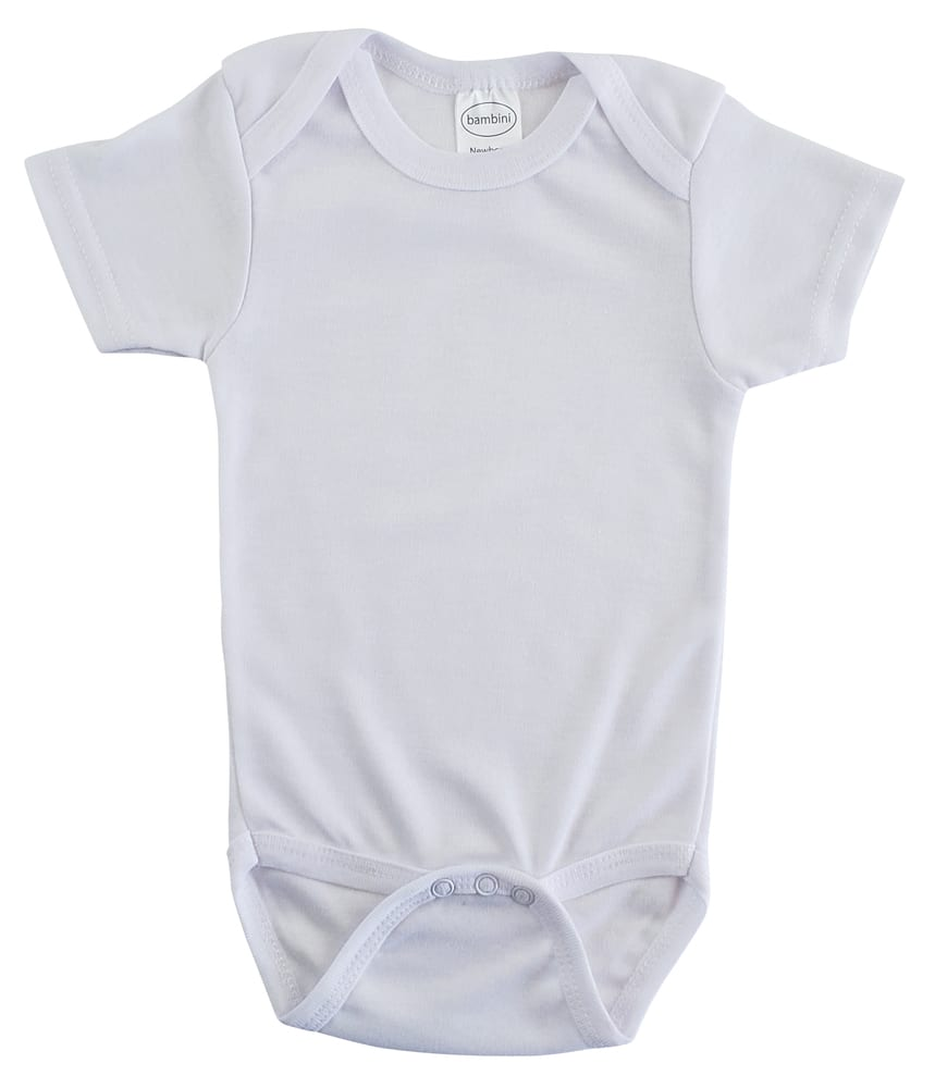 Infant Blanks 0010MP - Micro Poly Short Sleeve Onezies