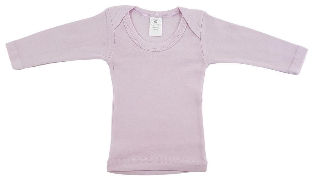 Infant Blanks 052B - Pastel pink long sleeve lap shirt