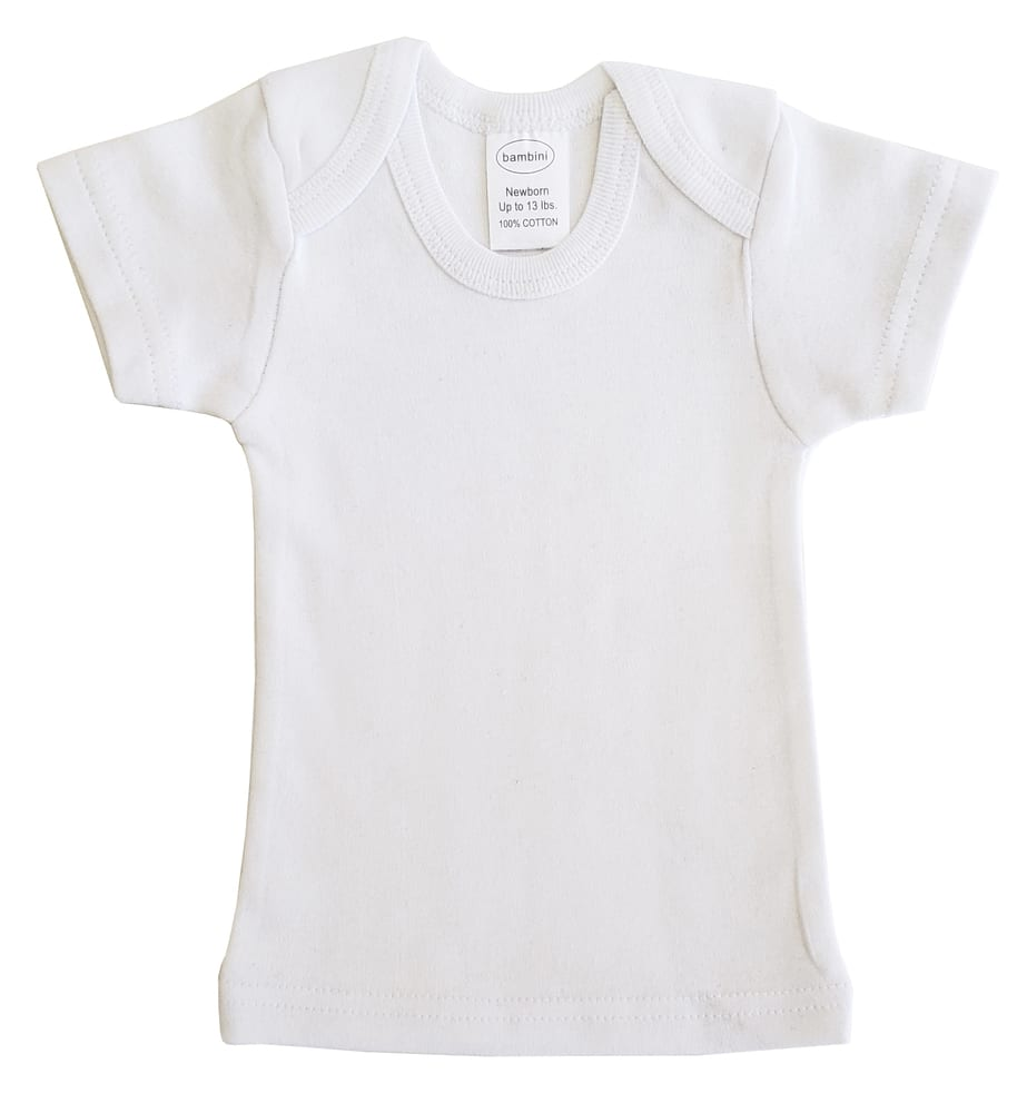 Infant Blanks 0550B - Short Sleeve lap shirt