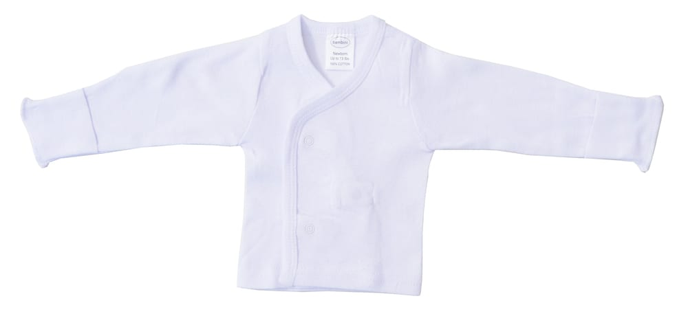Infant Blanks 071B - Long sleeve side snap with mittens