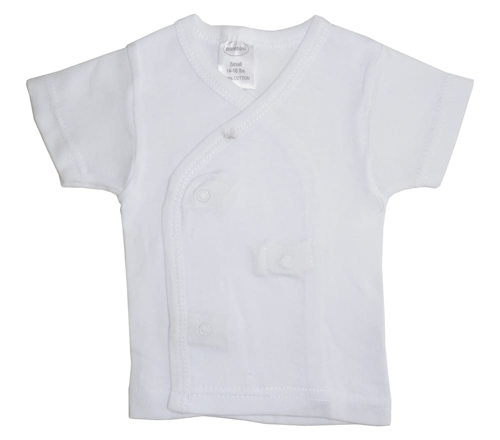 Infant Blanks 075B - side snap Short Sleeve shirt
