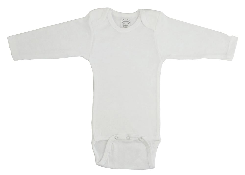 Infant Blanks 009B - Long Sleeve Onezies