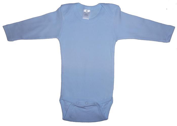 Infant Blanks 100B - Pastel Blue Long Sleeve Onezie