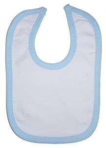 Infant Blanks 1023B - Interlock Bib Blue Binding