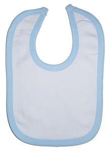 Infant Blanks 1023B - Interlock Bib Blue Binding