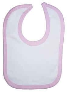 Infant Blanks 1023P - Interlock Bib Pink Binding