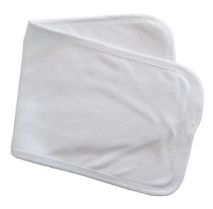 Infant Blanks 1025W - Baby burpcloth with trim
