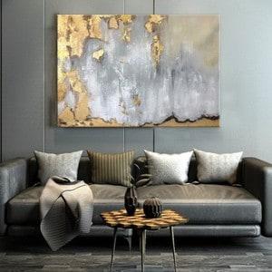 Artwall and Co 1500 - Peinture Abstraite Gold Sky