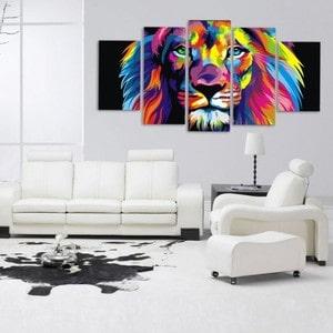 Artwall and Co 1106 - Grand Tableau Pop Art Lion