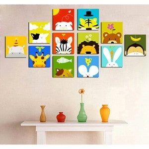 Artwall and Co 118 - Funny Animals Tableau Deco