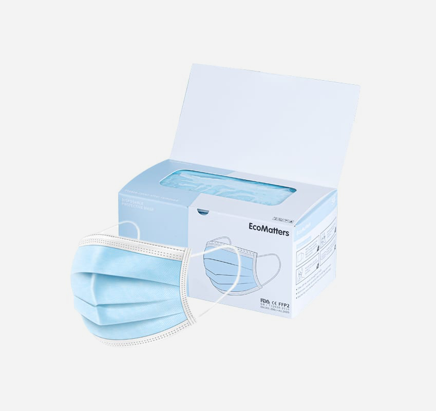 Mask 3-ply - Disposable 3-ply protective masks