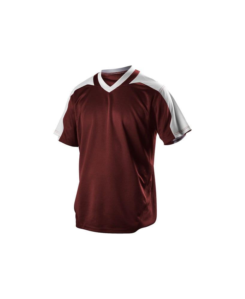 Alleson Athletic 521VNA - Alleson Adult V-Neck Baseball Jersey