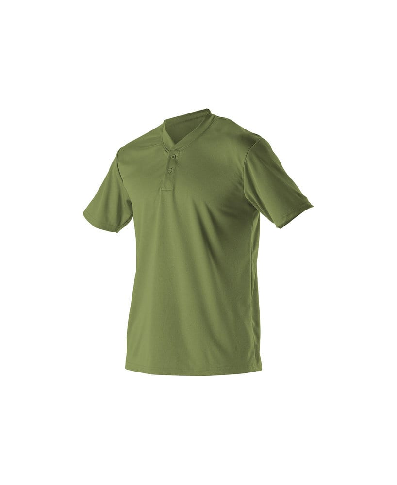 Alleson Athletic 522MM - Alleson Adult Baseball 2 Button Henley