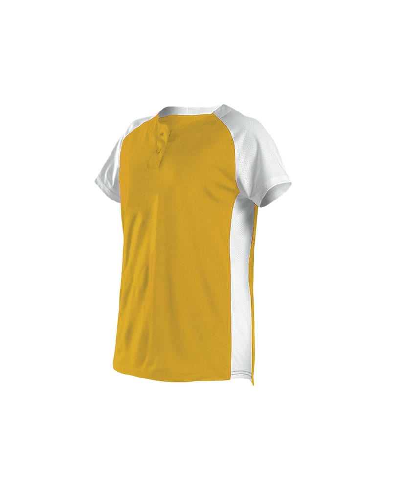 Alleson Athletic 522PDWG - Alleson Girl's Two Button Fastpitch Jersey