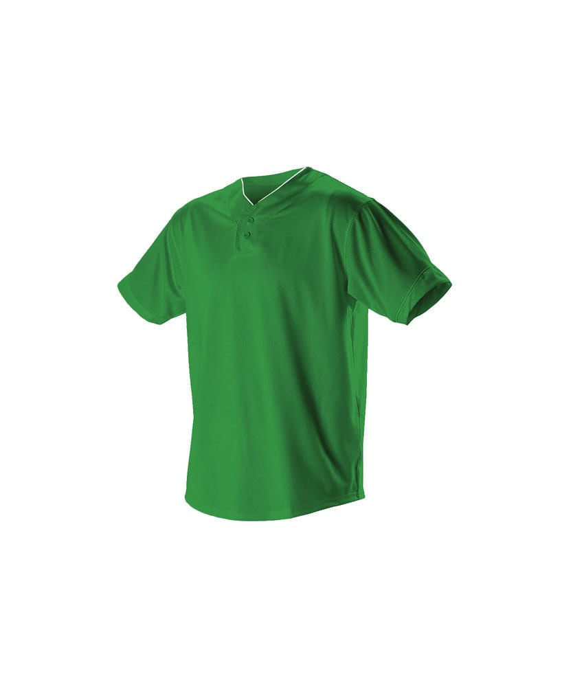 Alleson Athletic 52MTHJ - Alleson Adult Two Button Mesh Baseball Jersey with Piping